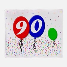 90bdayballoon3x4 Throw Blanket