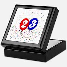 23bdayballoonbtn Keepsake Box
