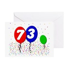 73_bdayballoon3x4 Greeting Card