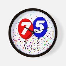75_bdayballoon Wall Clock