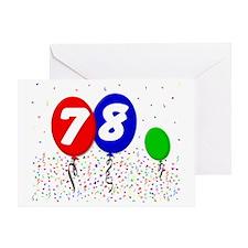 78_bdayballoon3x4 Greeting Card
