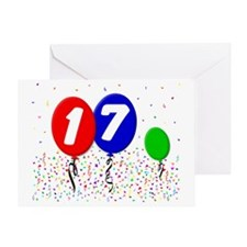17_bdayballoon3x4 Greeting Card
