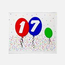 17_bdayballoon3x4 Throw Blanket