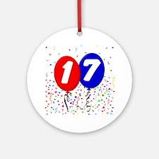 17_bdayballoon Round Ornament
