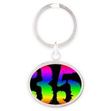 35_rbw1btn Oval Keychain