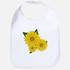 Trio of Sunflowers Bib