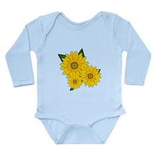 Trio of Sunflowers Body Suit
