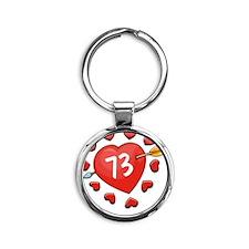 73ahrts Round Keychain