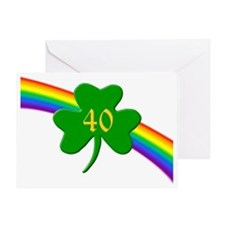 Rainbow Shamrock 40 Greeting Card