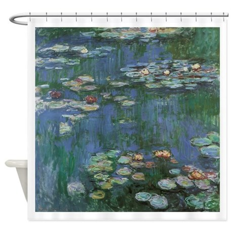 claude monet water lilies coloring page - waterlilies by claude monet shower curtain by admin cp14940502