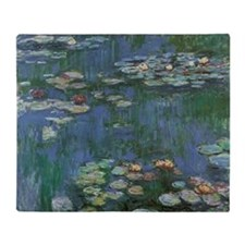 Waterlilies by Claude Monet Throw Blanket