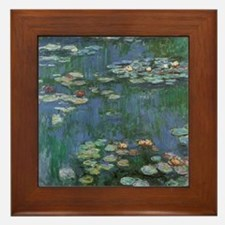 Waterlilies by Claude Monet Framed Tile