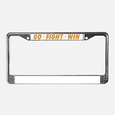 Orange Go Fight Win License Plate Frame