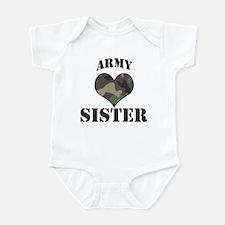 Sister: Camo Heart Infant Bodysuit