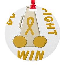 Gold Go Fight Win Ornament