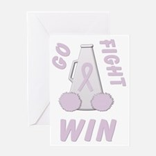 Orchid GO FIGHT WIN Greeting Card