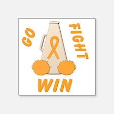 """Orange Go Fight Win Square Sticker 3"""" x 3"""""""