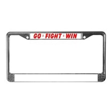 Red GO FIGHT WIN License Plate Frame