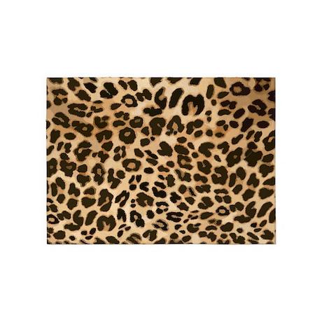 Leopard Gold/Black Print 5'x7'Area Rug