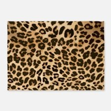 Leopard Gold/Black Print 5'x7'Area Rug