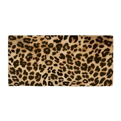 leopard gold black print beach towel by admin cp8129970