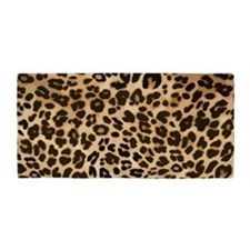 Leopard Gold/Black Print Beach Towel