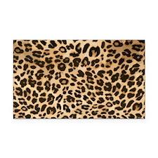 Leopard Gold/Black Print Rectangle Car Magnet