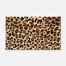 Leopard Gold/Black Print Rectangle Car Magnet