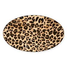 Leopard Gold/Black Print Decal