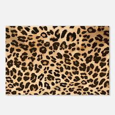 Leopard Gold/Black Print Postcards (Package of 8)