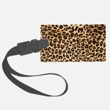 Leopard Gold/Black Print Luggage Tag