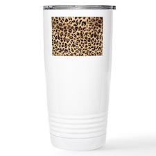 Leopard Gold/Black Print Travel Mug
