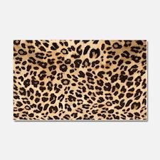 Leopard Gold/Black Print Car Magnet 20 x 12