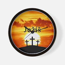 Ježíš Calvary Sunrise Wall Clock