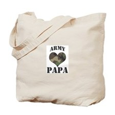 Papa: Camo Heart Tote Bag