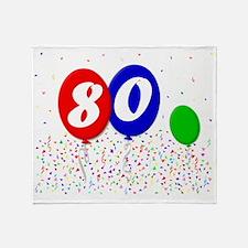 bday80balloon3x4t Throw Blanket