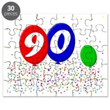 bday90balloon3x4t Puzzle