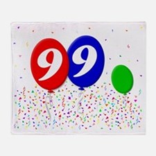 bday99balloons3x4t Throw Blanket