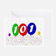 101st Birthday Greeting Card