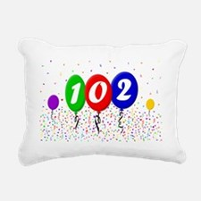 102nd Birthday Rectangular Canvas Pillow