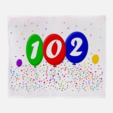 102nd Birthday Throw Blanket