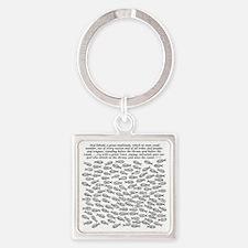 jesusfishrev3c Square Keychain
