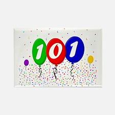 101st Birthday Rectangle Magnet