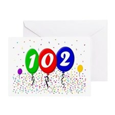 102nd Birthday Greeting Card