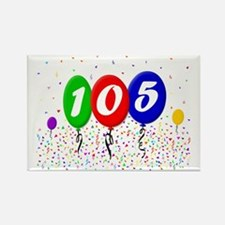 105th Birthday Rectangle Magnet