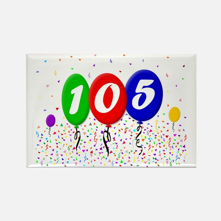 105th Birthday Rectangle Magnet