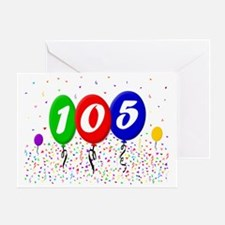 105th Birthday Greeting Card