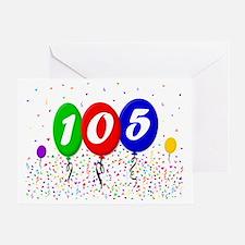 105th Birthday Greeting Card