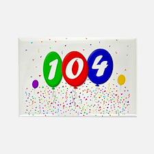 104th Birthday Rectangle Magnet