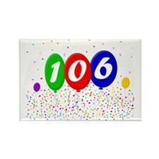 106th Birthday Rectangle Magnet